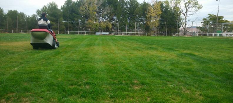 Estrenem camp de futbol de gespa
